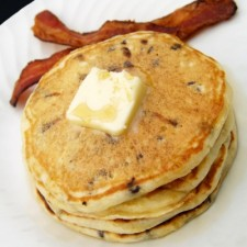 Bacon and cheese pancake