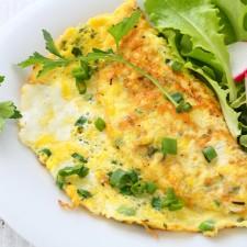 Omelette ciboulette oignons sans gluten